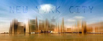 City-Shapes MANHATTAN Skyline von