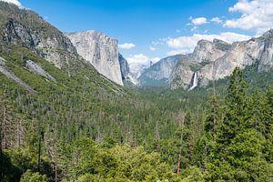 Het mooiste uitzicht van Yosemite Nationaal Park in Amerika van Linda Schouw