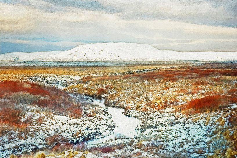 IJslands sneeuwlandschap van Frans Blok