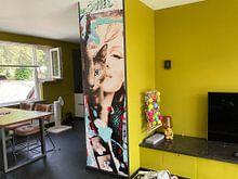 Kundenfoto: Marilyn Monroe und Katze von Kathleen Artist Fine Art, auf nahtloser fototapete