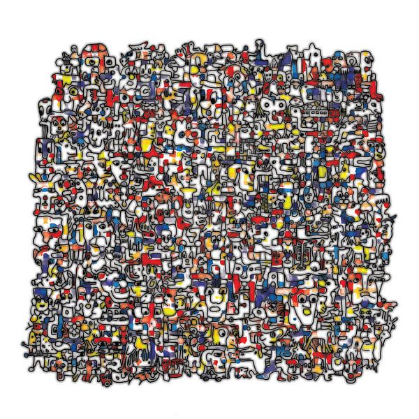 Vreemde kostgangers V3 in RGB  van Henk van Os