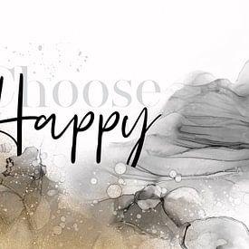 ALCOHOL INK Choose happy von Melanie Viola