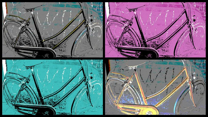 Bicycle Collage von Nicky`s Prints