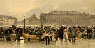 Der Theatermarkt in Antwerpen, Emile Claus