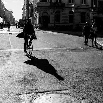 Cycliste sur Frédéric Goetinck-Moret
