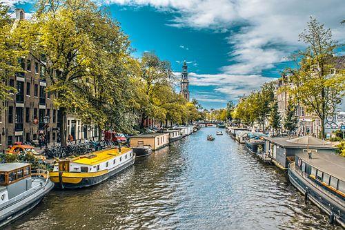 Woonboten aan de Prinsengracht, Amsterdam