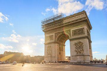 Arc de Triomphe zonsondergang van Dennis van de Water