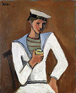 Junger Mann in Matrosenkleidung, HELMUT KOLLE, um 1930 von Atelier Liesjes