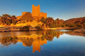 Kasbah, Draaivallei, Atlasgebergte, Marokko van Markus Lange