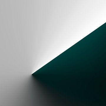 Groene kegel helling van Jörg Hausmann