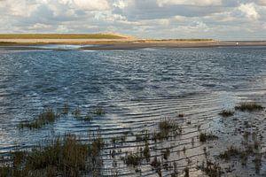 Hoogwater in de slufter van de Verdronken Zwarte Polder