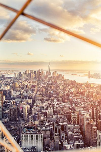 New York City Skyline  - Freedom Tower - Black and White  van Rob van der Voort