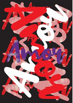 abstracte amor kunstwerk von Gerrit Neuteboom