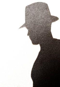 Silhouet van een cowboy van Devin Meijer