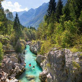 Kayak Soca River Bovec Slovenia von Menno Boermans