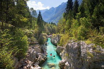 Kajak Soca River Bovec Slowenien von Menno Boermans