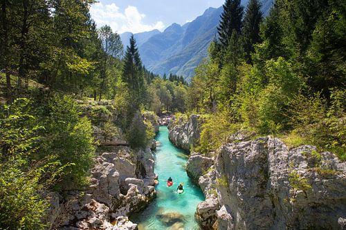 Kayak Soca Rivier Bovec Slovenië van Menno Boermans