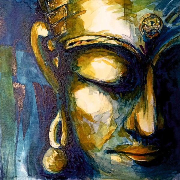 Buddha - The Watercolor 31012021 von Michael Ladenthin