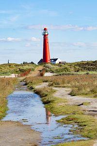 the lighthouse wadden vuurtoren van Groothuizen Foto Art