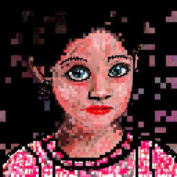 Meisje. Pixels van Raina Versluis