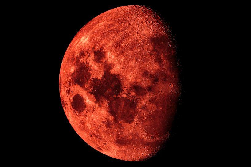 Lune rouge sang XXL sur Max Steinwald
