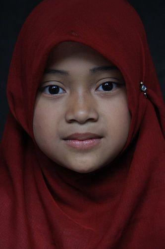 Girl in Malang van