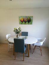 Kundenfoto: Tulpen von Gena Theheartofart, auf leinwand