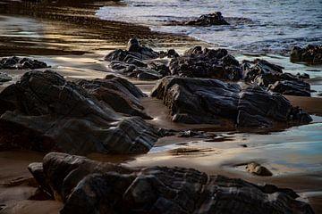 Rotsen, Agnes Water, Australie van Willem Vernes