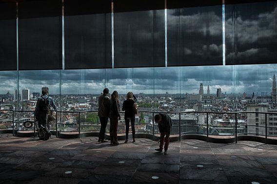 skyline antwerpen van Jo Beerens