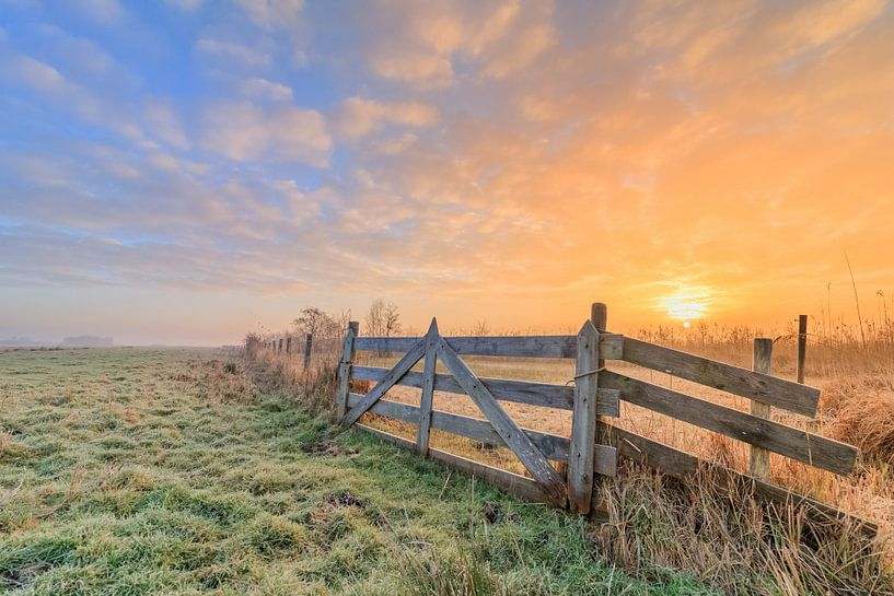 Hollandse Landschap/Zonsopkomst van Lisa Antoinette Photography