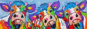 3 koeien blauwgrijs