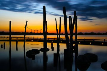 Sonnenuntergang an den Loosdrechter Seen von Jennifer Hendriks