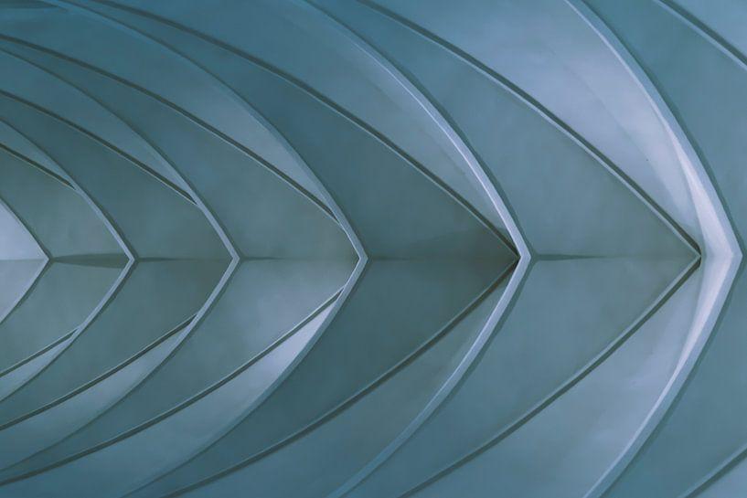Schip - Blauw van Irene Hoekstra