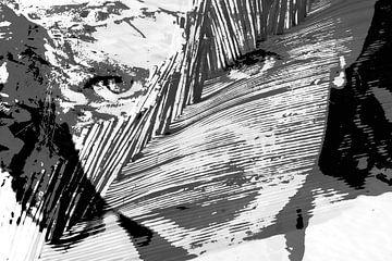 Portret van meisje met sprekende ogen von Alice Berkien-van Mil