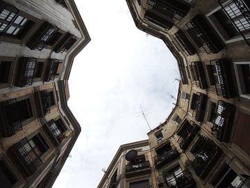 Pleintje in Barcelona anders bekeken van Nadine Geerinck