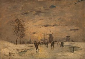 Schlittschuhlaufen in Holland, Imitator von Johan Barthold Jongkind