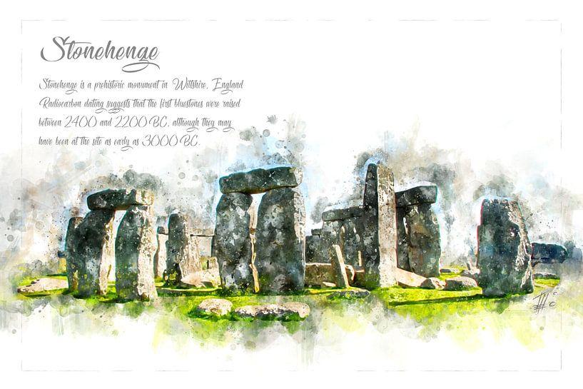 Stonehenge, Aquarell, England von Theodor Decker