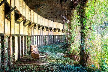 Verlaten Stoel tussen Planten. van Roman Robroek