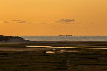 Zonsondergang Texel von Henri Kok