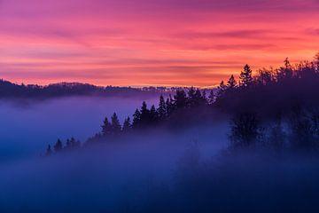 Zonsopkomst nabij Burg Eltz van Paul Weekers Fotografie