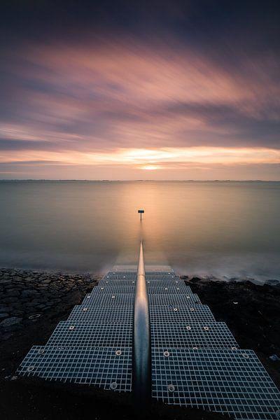 Stairs to the setting sun van Erik van Lent