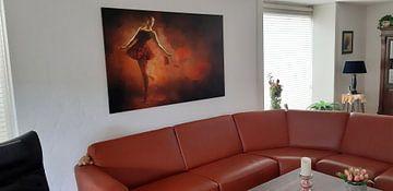 Kundenfoto: Gemalte rote Ballerina von Arjen Roos