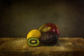 Stilleven verschillende fruitsoorten van Wim Messink Fotografie