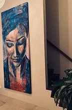 Klantfoto: Listen van Flow Painting, op canvas
