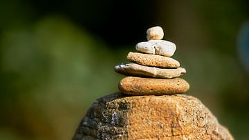 Stenen stapelen van