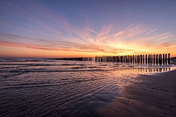 Sonnenuntergang am Meer von Remco van Drunen