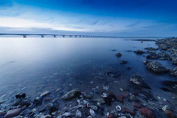 Zeelandbrücke in der Mündung der Oosterschelde von Eric Konings