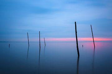 Bâtons dans l'eau à la plage de Rockanje sur Jos Pannekoek