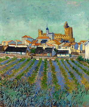 Blick auf Les Saintes-Maries-de-la-Mer, Vincent van Gogh