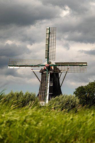 Prachtige houten molen.